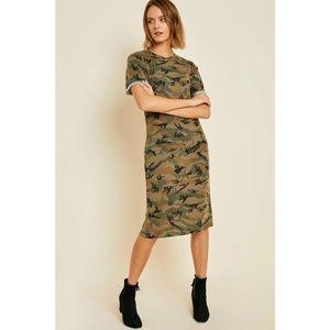 Camo Midi T-Shirt Dress